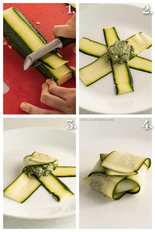 How to slice zucchini for ravioli
