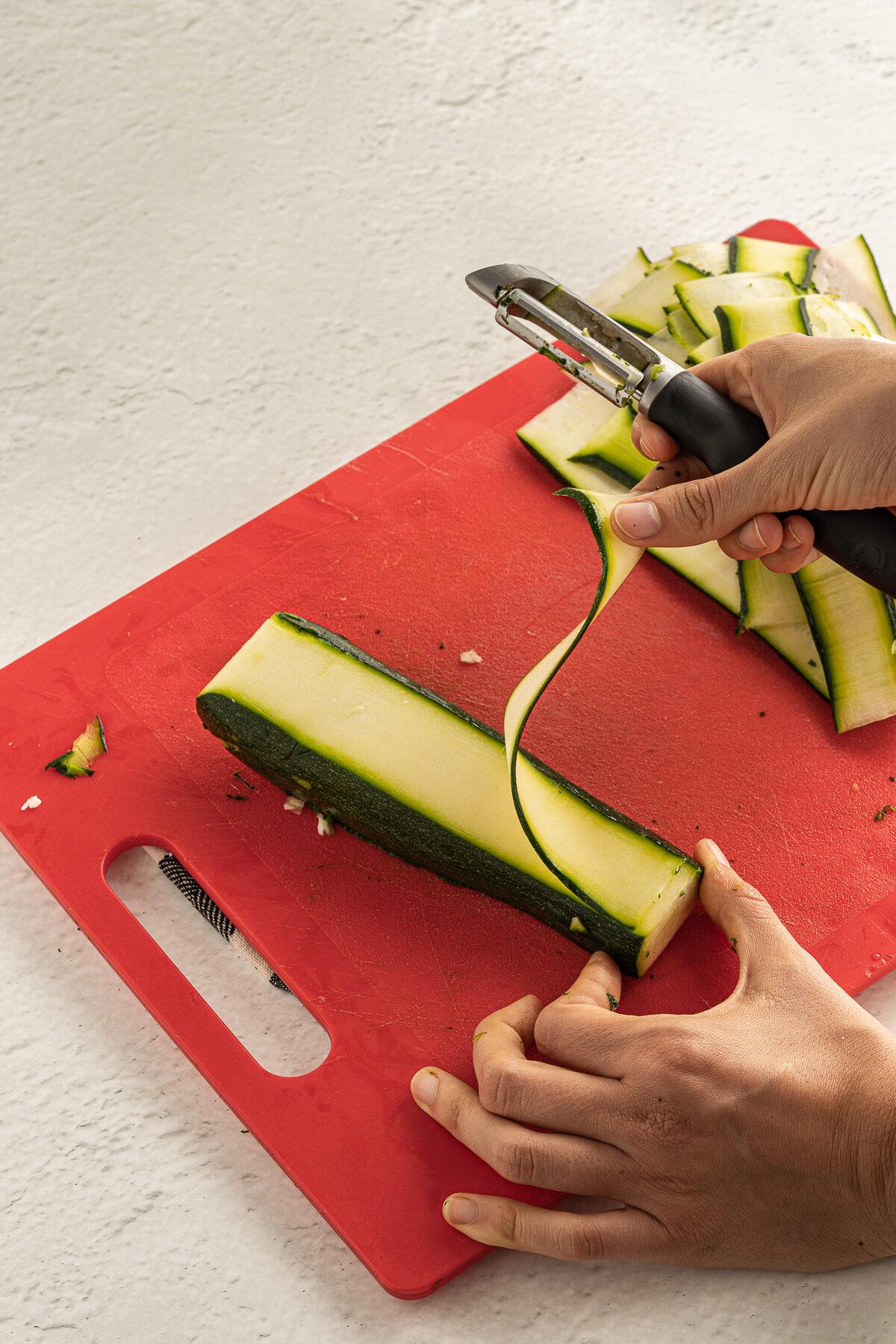 Strip of zucchini