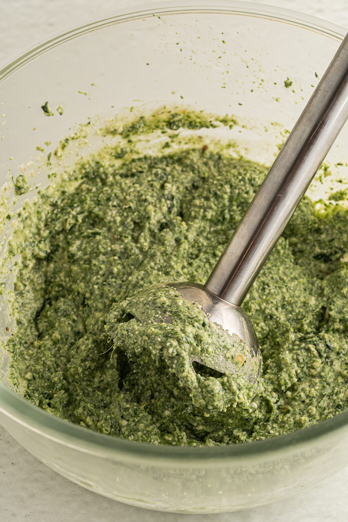 Spinach and cheese filling