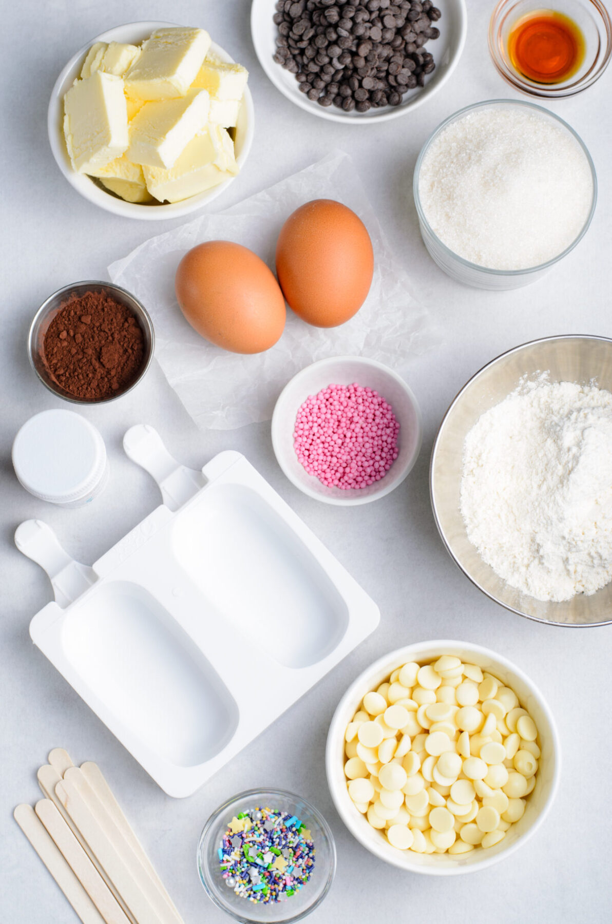 Ingredients for Cakesicles