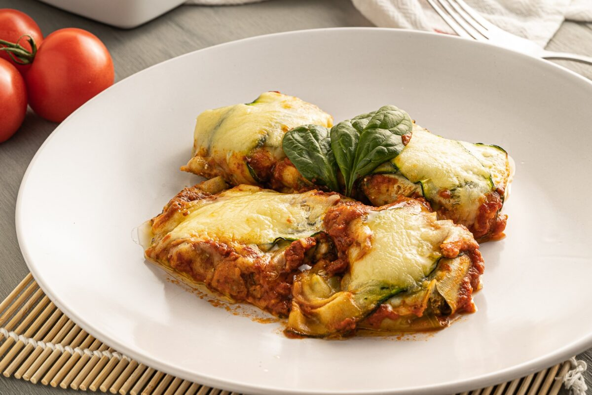Zucchini ravioli is an easy to make Keto friendly family meal. Fiilled with cheese and spinach, it's a satisfying & tasty vegetarian dish!