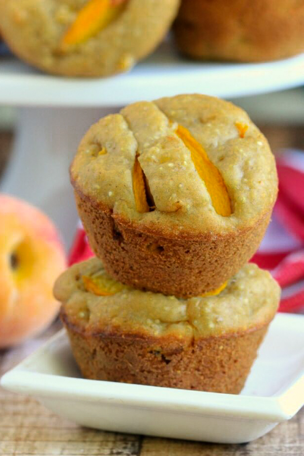 These Browned Butter and Quinoa Peach Muffins are packed with protein, making them a satisfying and delicious breakfast choice for on the go.