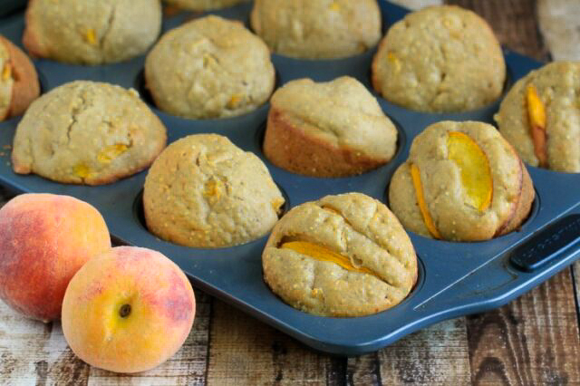 These Browned Butter and Quinoa Peach Muffins feature the deep & rich flavour of browned butter with sweet peaches. These muffins are packed with protein, making them a satisfying breakfast choice.