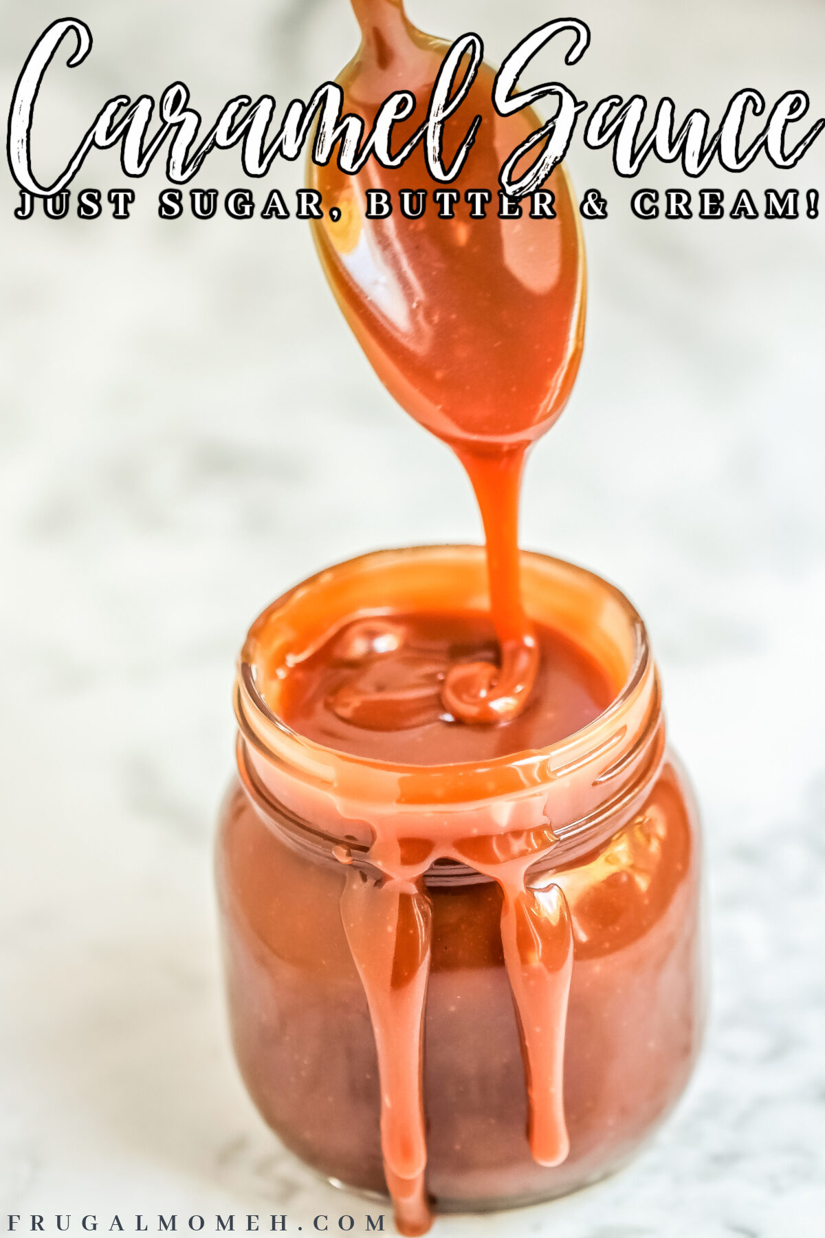 This Easy Homemade Caramel Sauce Recipe uses just a handful of ingredients & the wet caramelization method to make perfect creamy caramel.