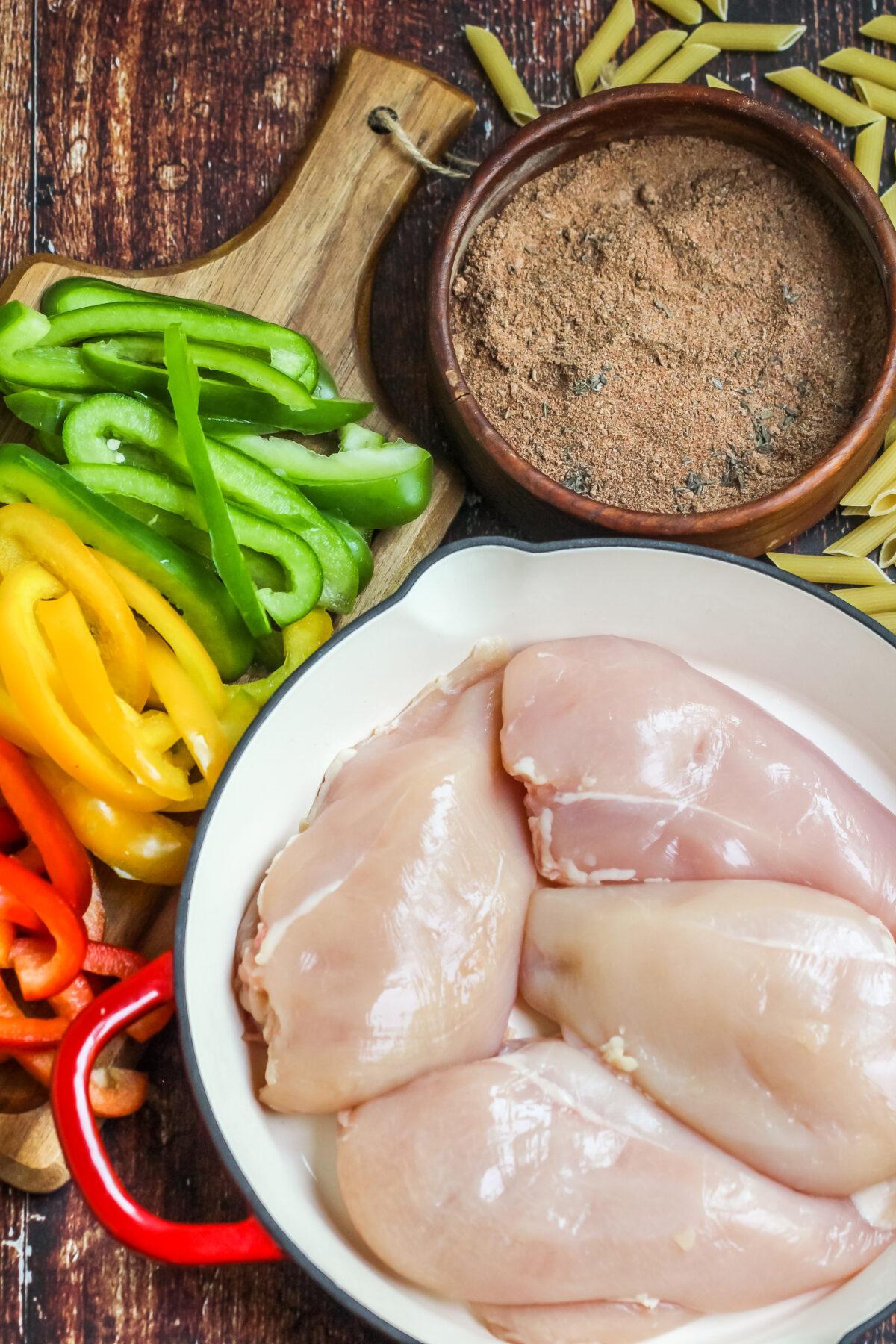 Ingredients for Rasta Pasta