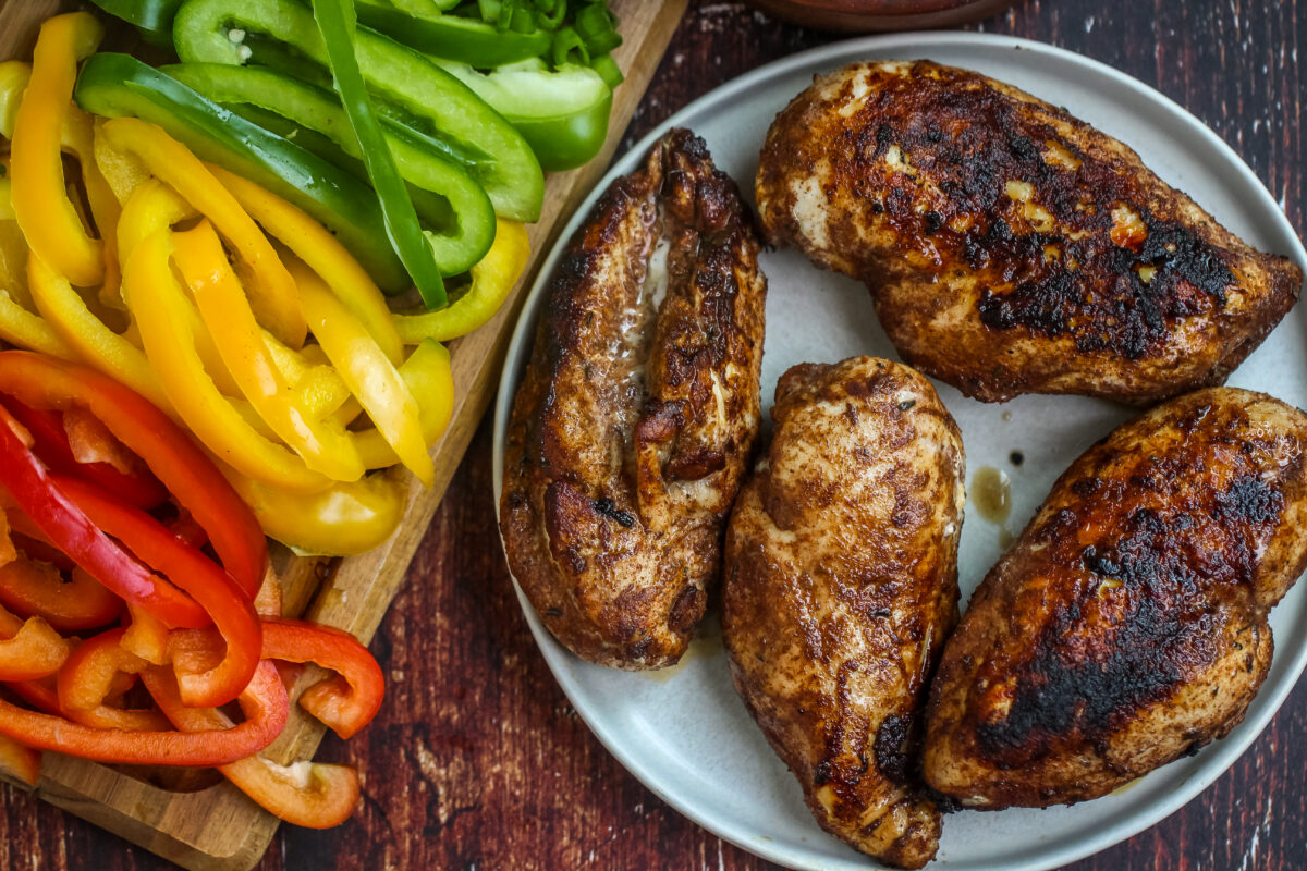 Jerk Chicken and peppers