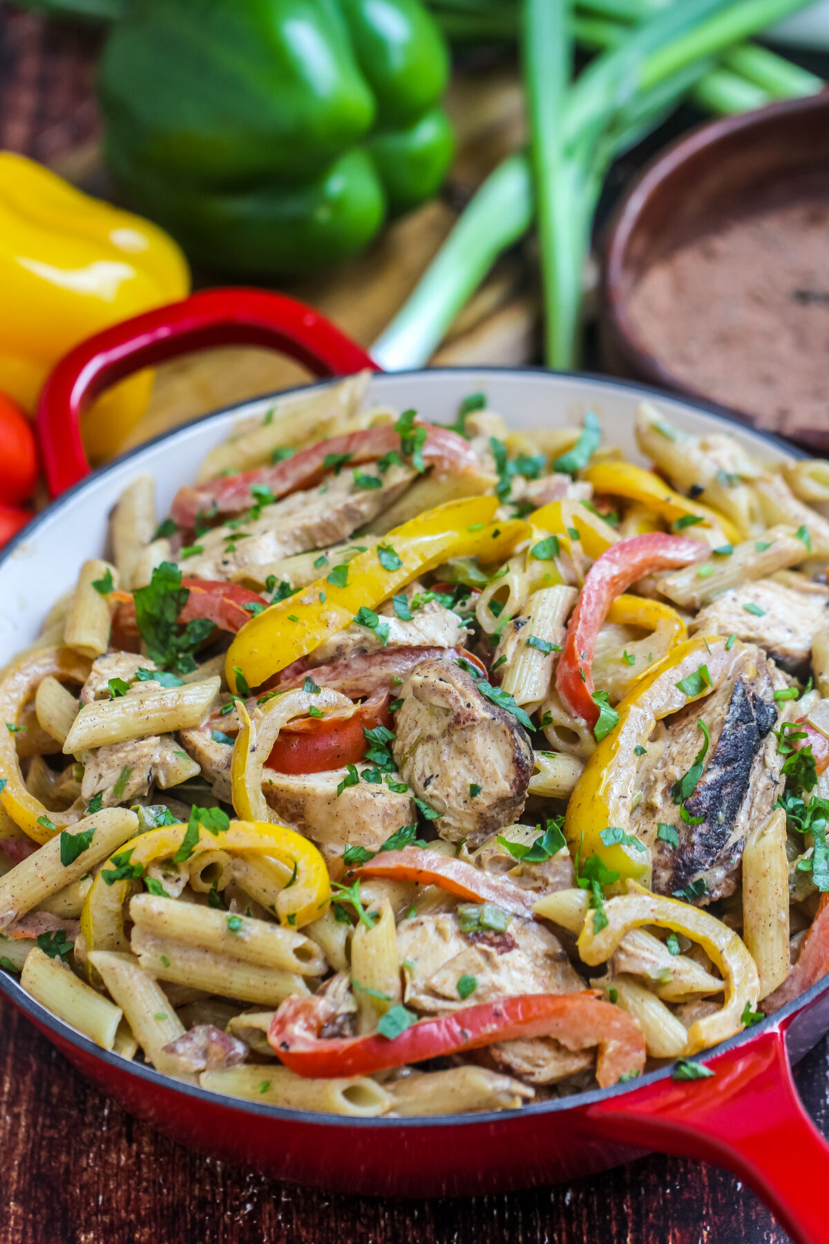 This Jamaican jerk chicken pasta will have your family licking their plates, this Rasta Pasta Recipe is a Jamaican-inspired meal you'll love!