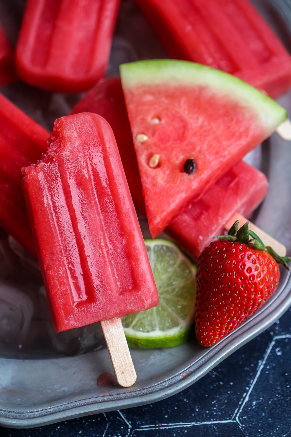 A simple recipe for strawberry watermelon ice pops for when you want a refreshing treat to keep your family cool on hot summer days.