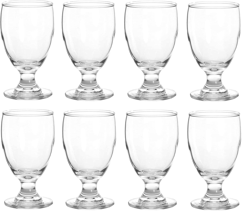 8 Piece Water Goblet Glass Set