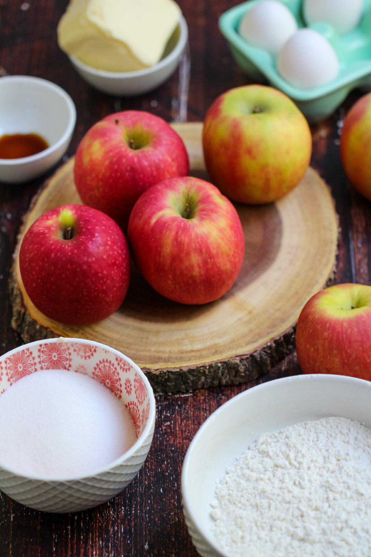 Ingredients for German Apple Cake