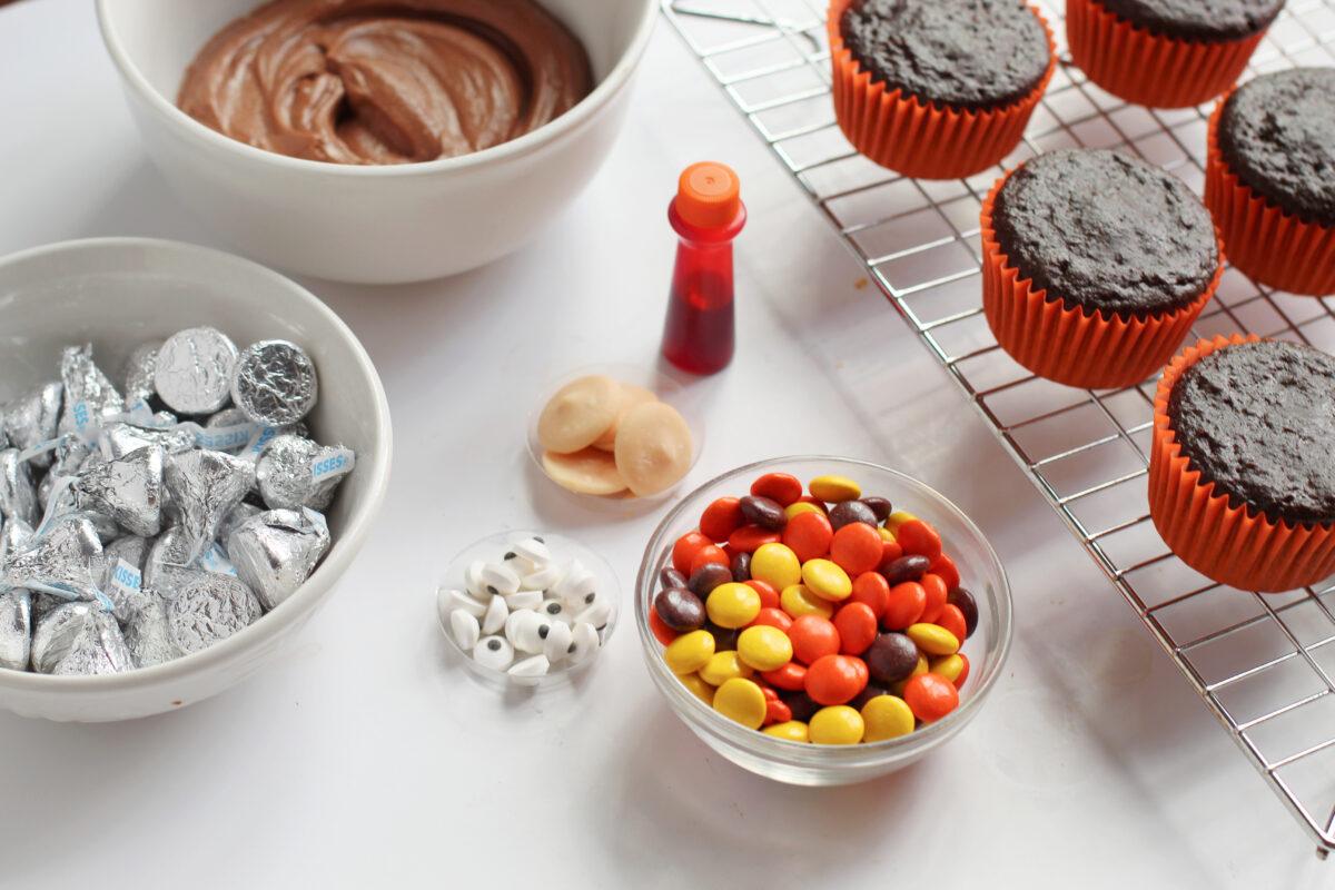 Ingredients for Turkey cupcakes
