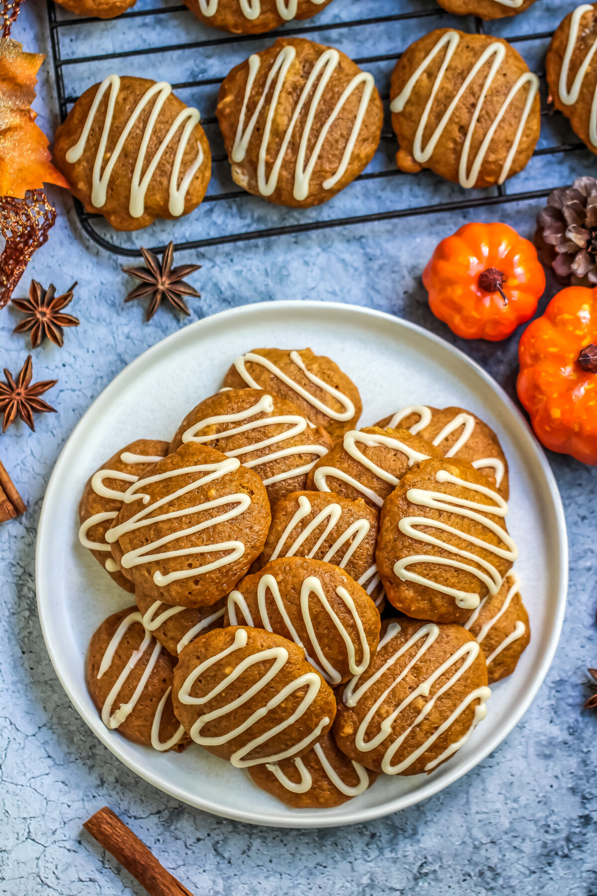 These soft and cakey pumpkin spice cookies with maple icing offer just the right amount of sweetness and a delicious kick of pumpkin spice.