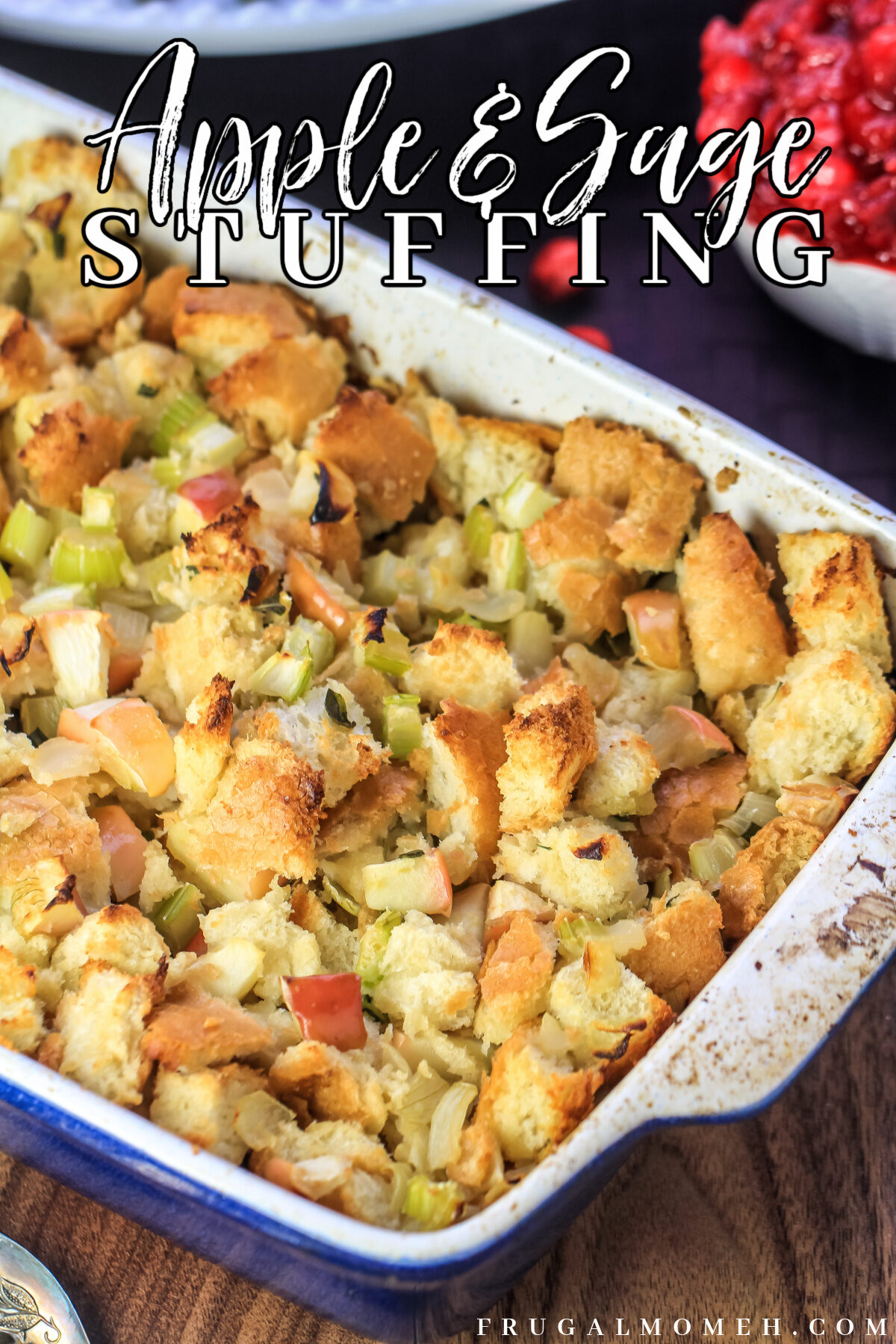 This recipe for Apple and Sage Stuffing is moist, fragrant, and absolutely delicious. It's a perfect Thanksgiving side dish.