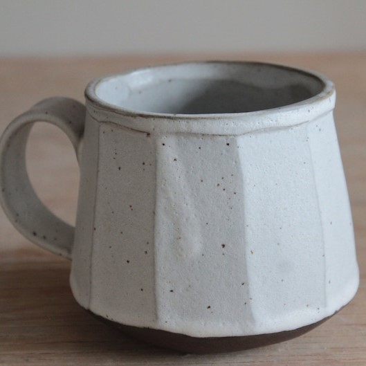 Handmade Faceted Ceramic Mug