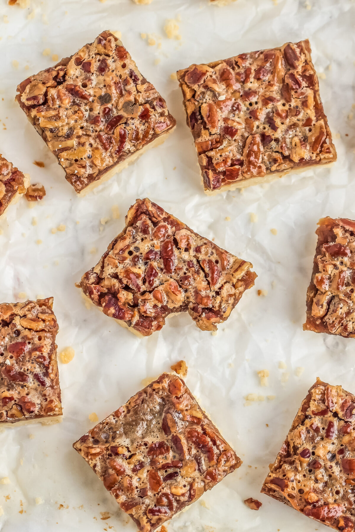 This recipe for pecan pie bars is a huge crowd pleaser. They're deliciously sweet & salty with an easy shortbread crust. Plus NO Corn Syrup!