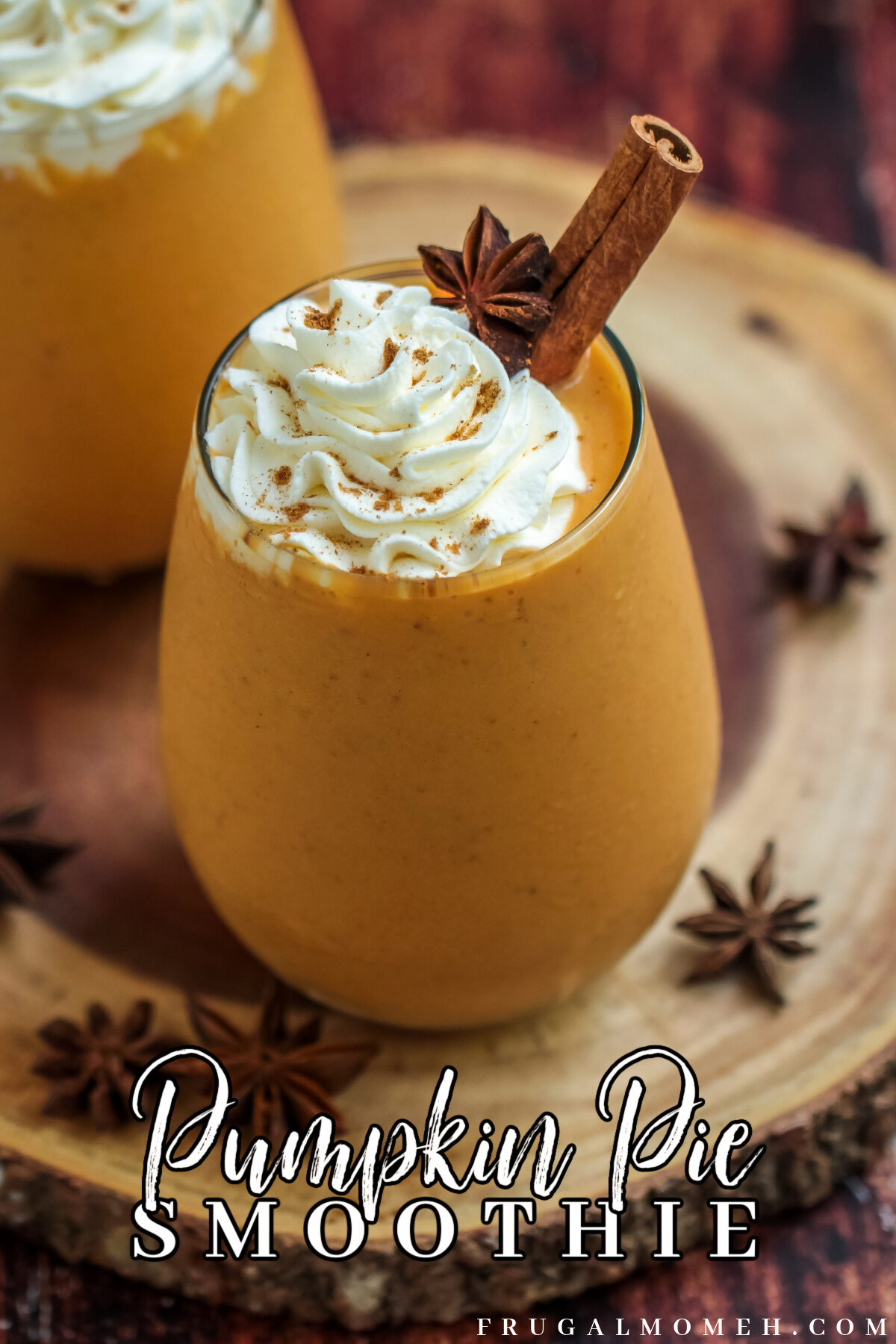 This healthy pumpkin pie smoothie is a great way to use up leftover canned pumpkin puree from Thanksgiving. A delicious fall treat!