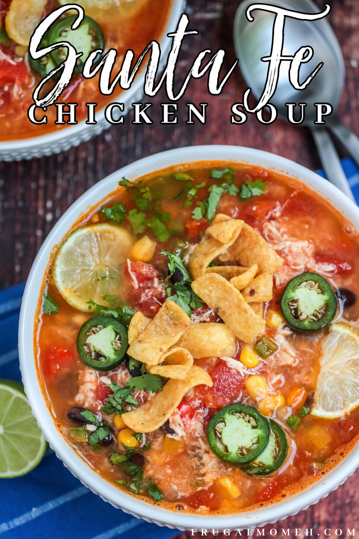 The best Instant Pot Santa Fe Chicken Soup recipe for your pressure cooker, it is packed with flavour to warm you up from the inside out!