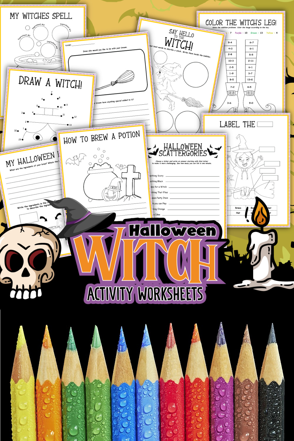 These Free Halloween themed Witch activity worksheets are a spooktacular way to keep kids entertained this Halloween. Download, print, play!